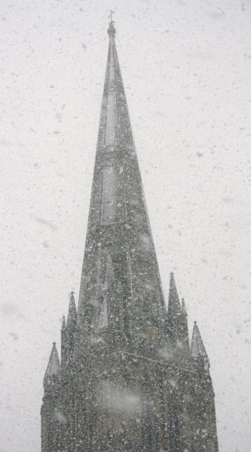 Spire with Lots of Snow