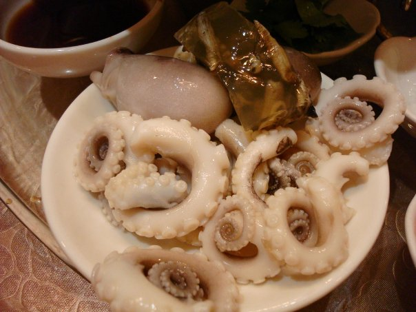 Calamari & Sea Worms in Gelatin