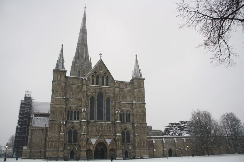 Catherdral in Snow Front