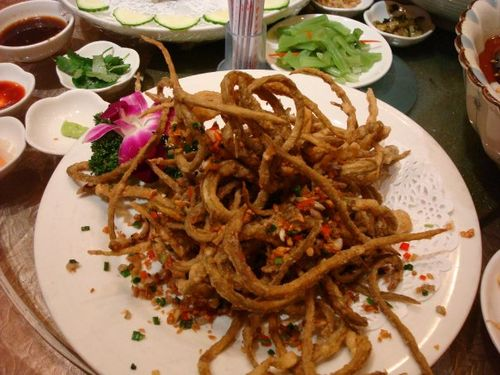 Fried Baby Sea Snakes
