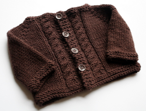 Bitty Cabled Cardigan - Full